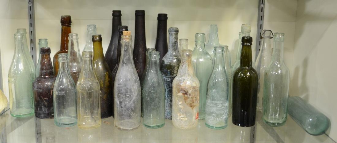 Decorative Antique Bottle Lot  Approx 40pcs  Soda,