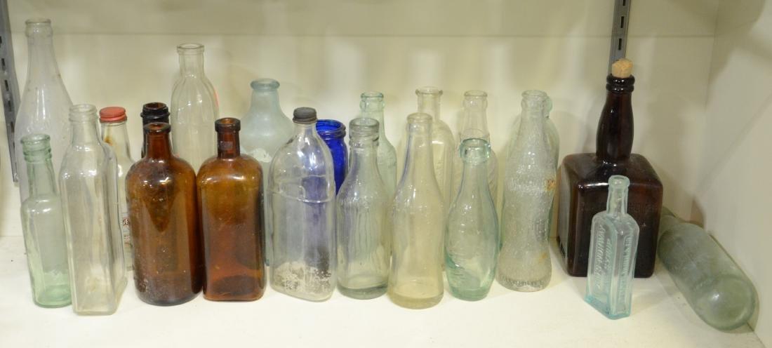 30 bottles: blob top, cobalt blue, medicinal, ballast
