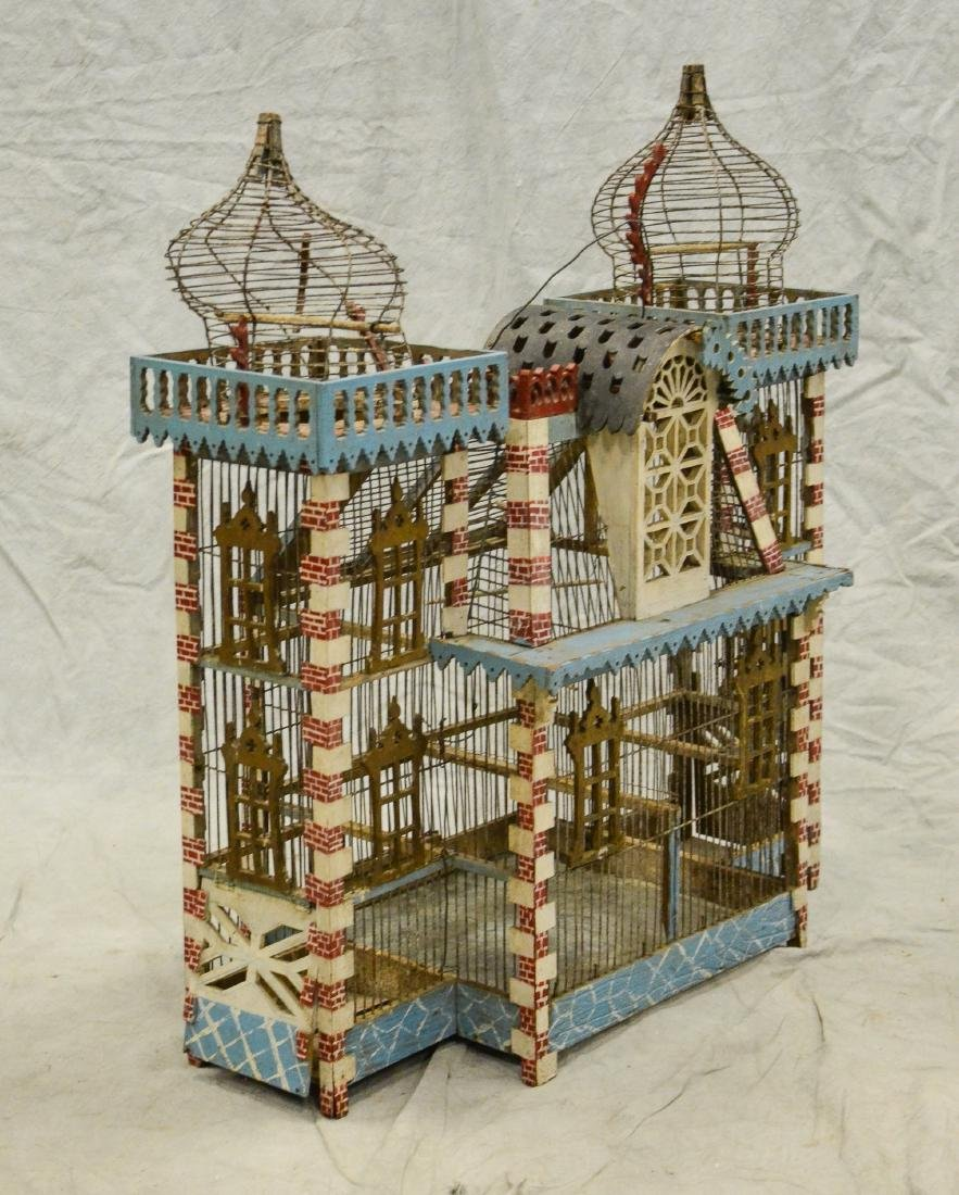 Antique Bavarian Candystripe Bird Cage c1920  Large - 2