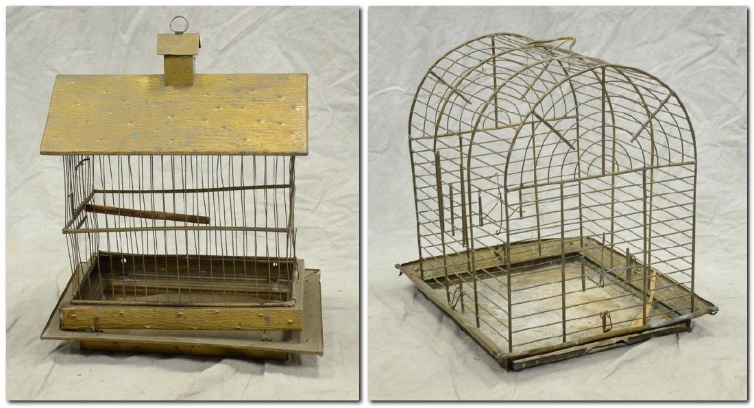 Aesthetic Movement Brass Bird Cage c1890  A larger cage