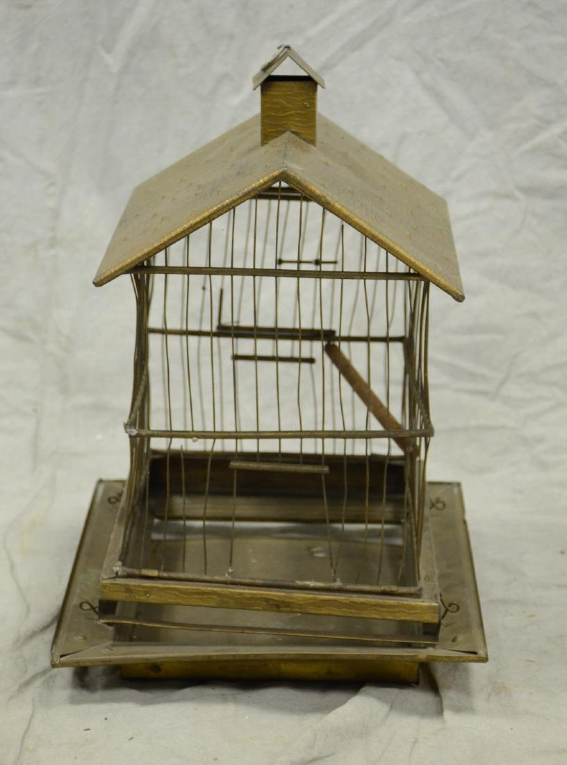 Aesthetic Movement Brass Bird Cage c1890  A larger cage - 2