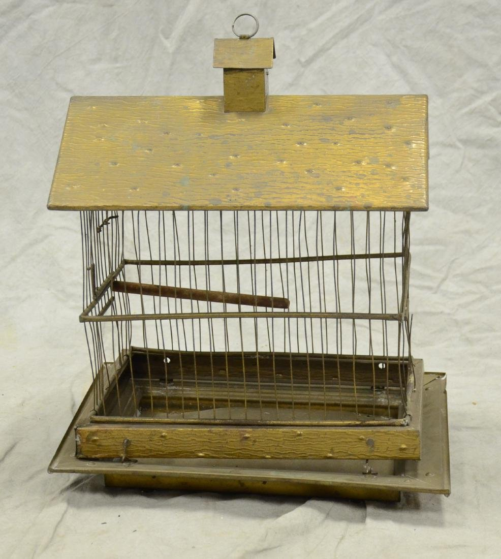 Aesthetic Movement Brass Bird Cage c1890  A larger cage - 3