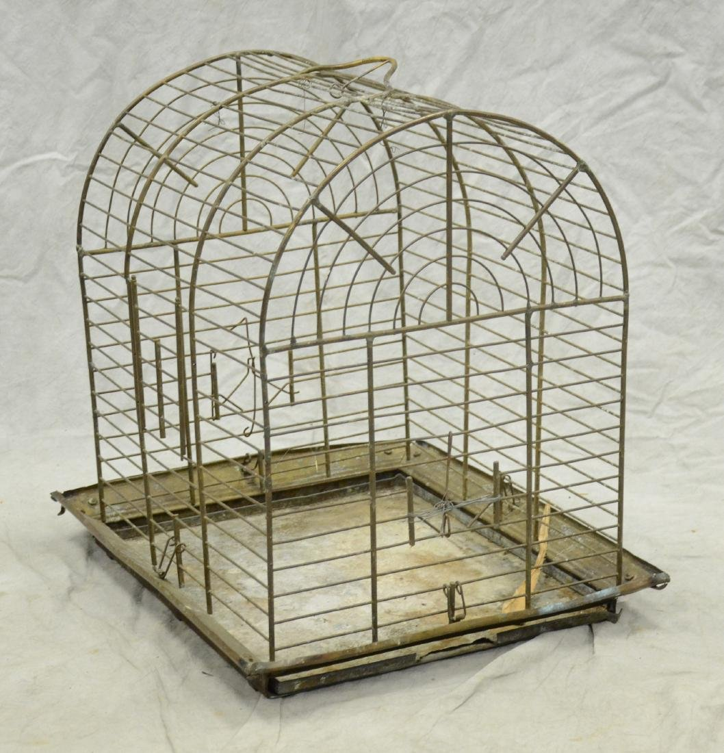 Aesthetic Movement Brass Bird Cage c1890  A larger cage - 5