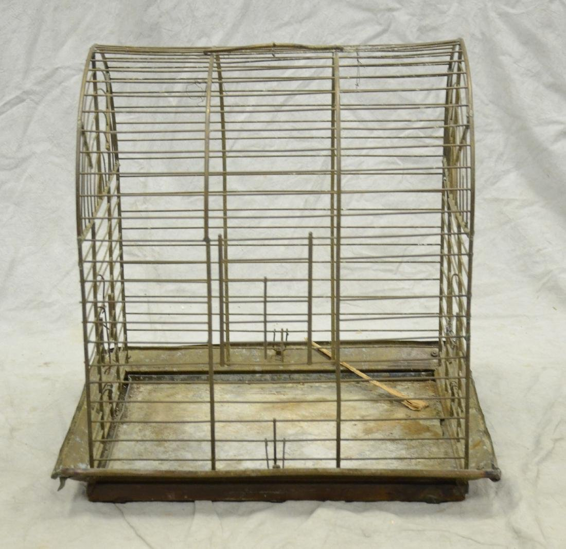 Aesthetic Movement Brass Bird Cage c1890  A larger cage - 6