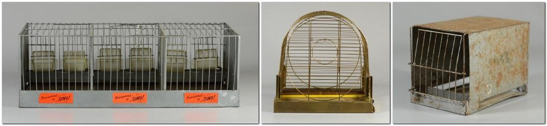 Hendryx Pet Shop Canary Cage w/ Feeder Cups c1950  Mid