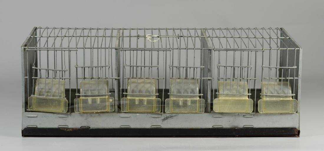 Hendryx Pet Shop Canary Cage w/ Feeder Cups c1950  Mid - 2