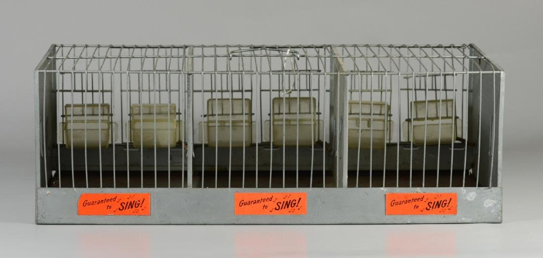 Hendryx Pet Shop Canary Cage w/ Feeder Cups c1950  Mid - 3
