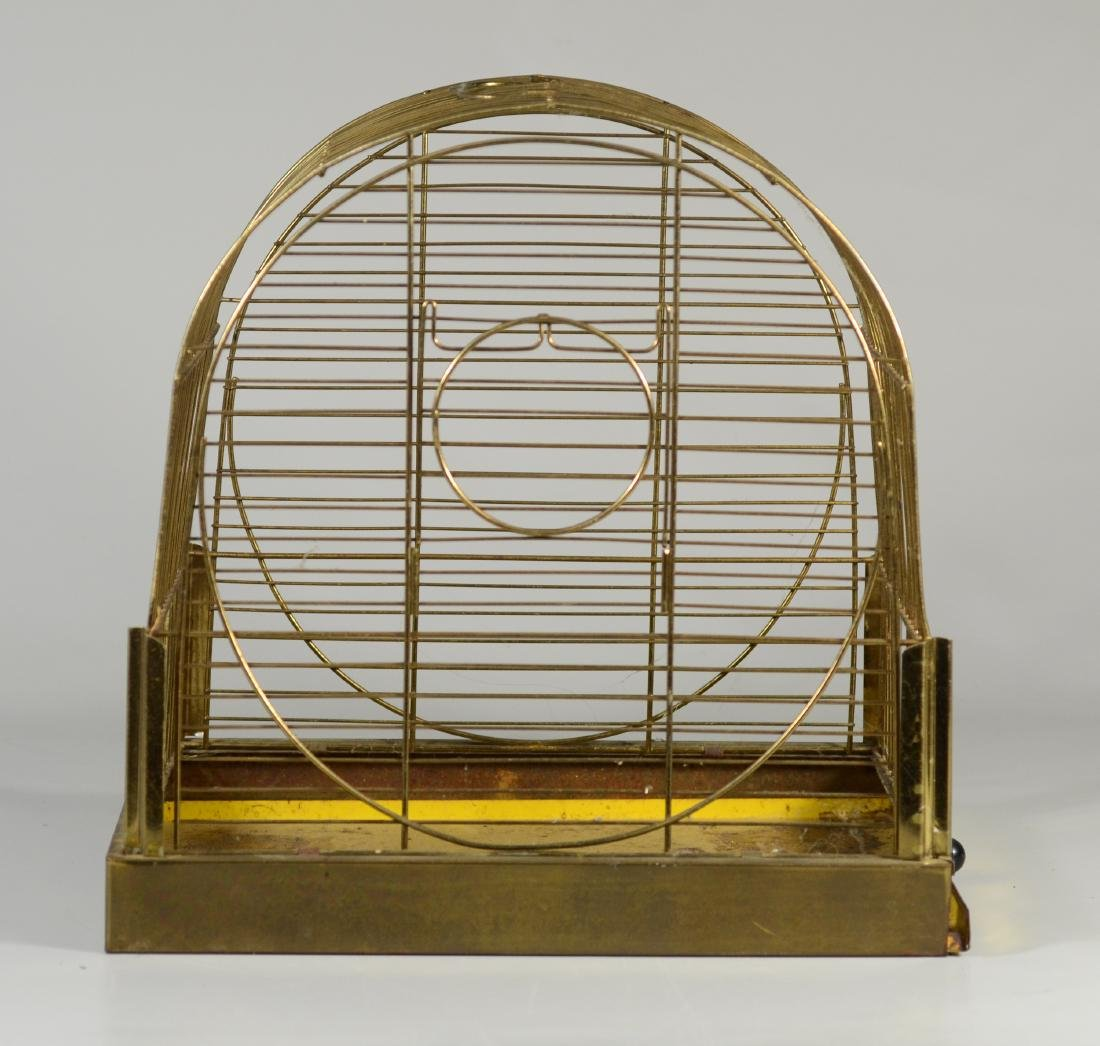 Hendryx Pet Shop Canary Cage w/ Feeder Cups c1950  Mid - 4