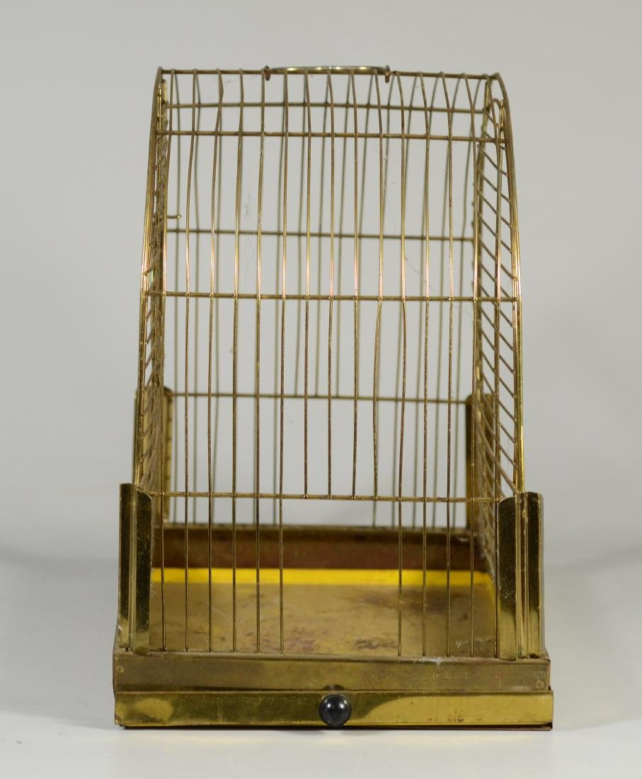 Hendryx Pet Shop Canary Cage w/ Feeder Cups c1950  Mid - 5