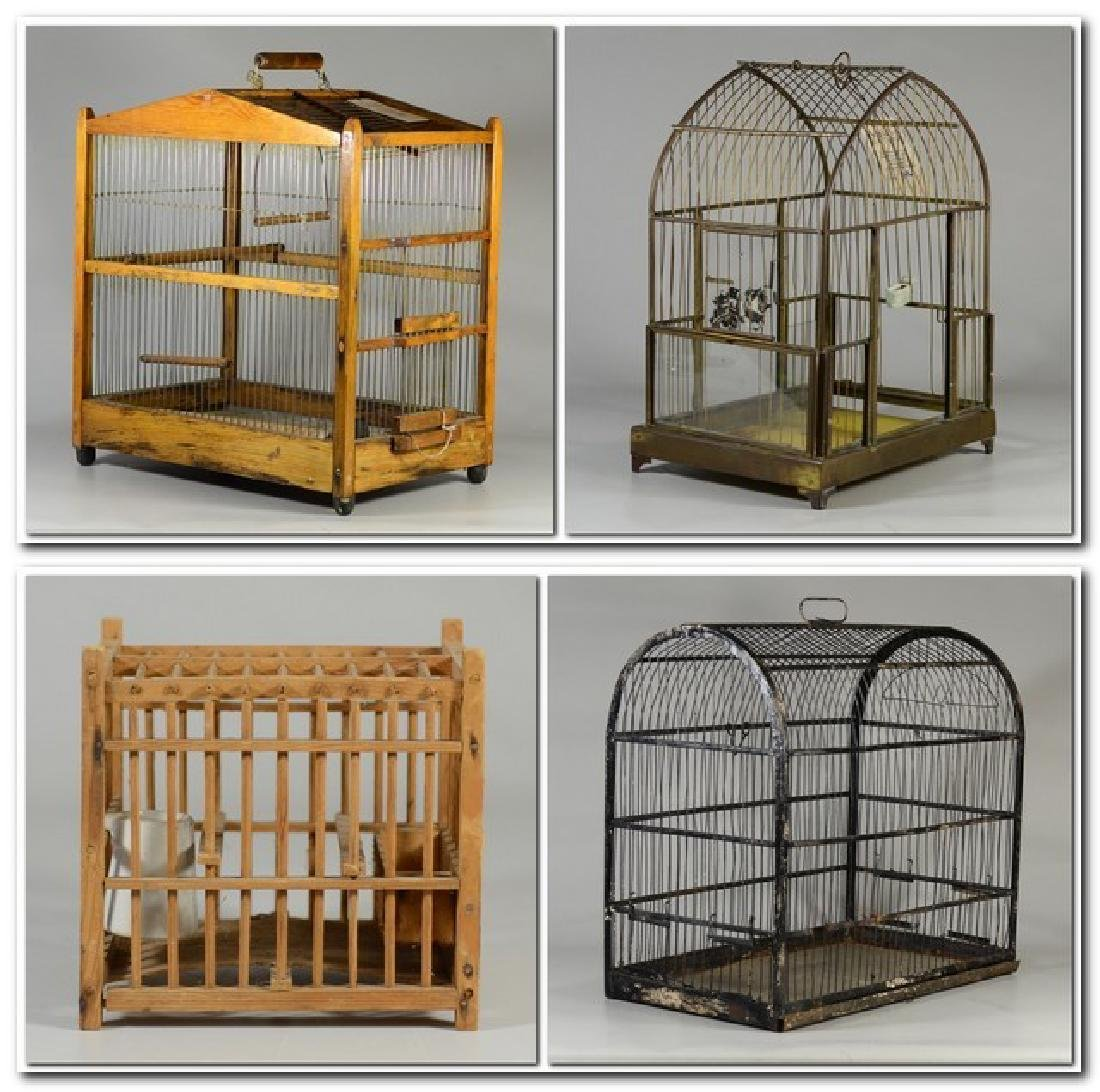 (4) bird cages: Hand Made Canary Coal Mine Cage w/