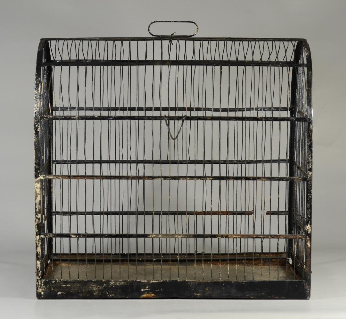 (4) bird cages: Hand Made Canary Coal Mine Cage w/ - 5