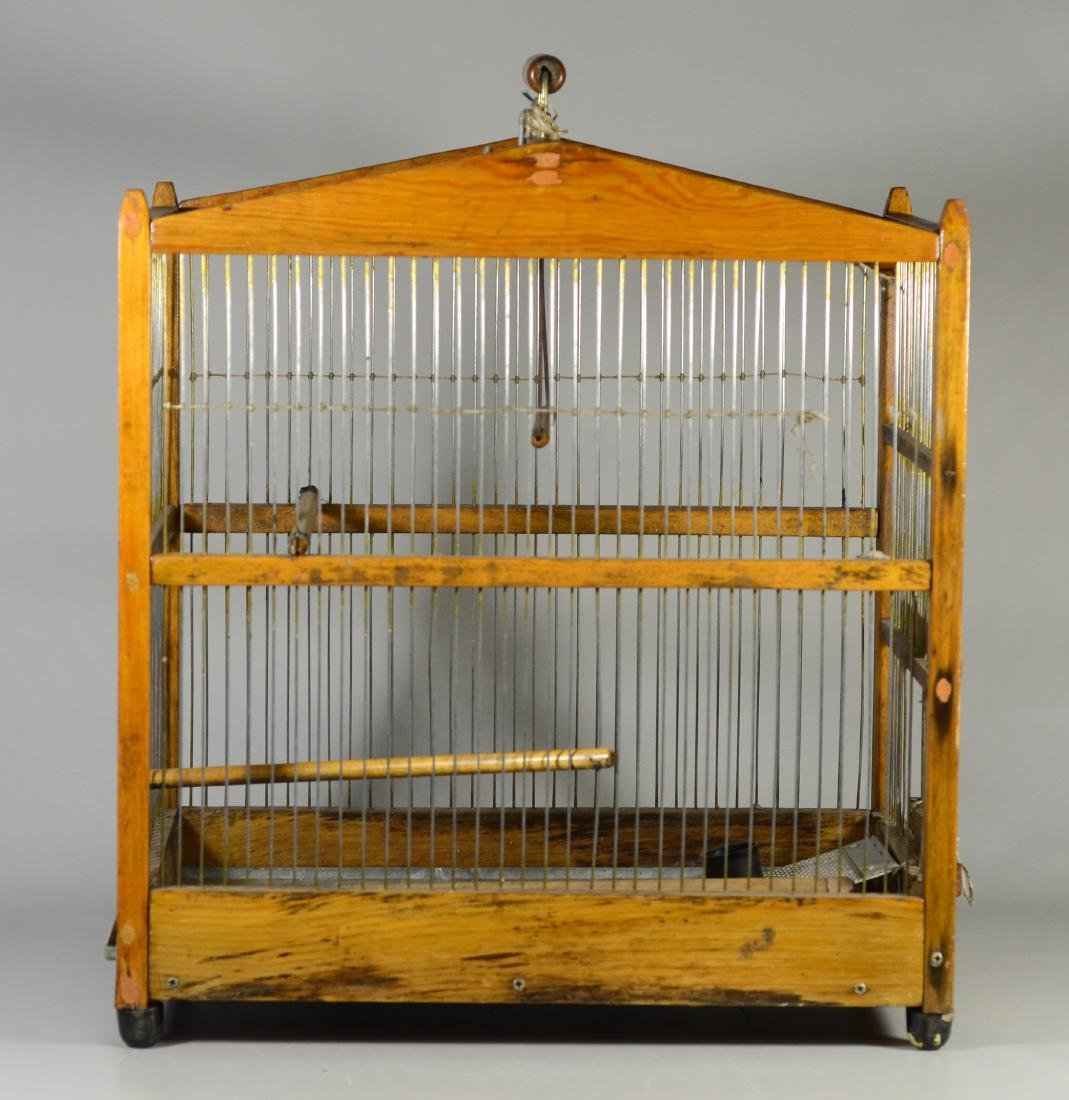 (4) bird cages: Hand Made Canary Coal Mine Cage w/ - 8