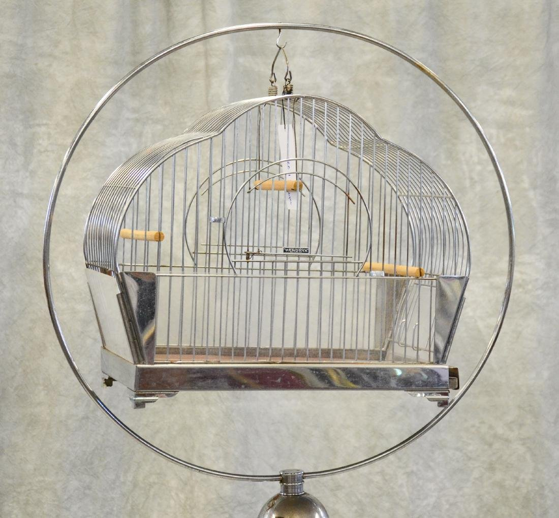 (2) bird cages on stands: Mid Century Modern Hendryx - 3