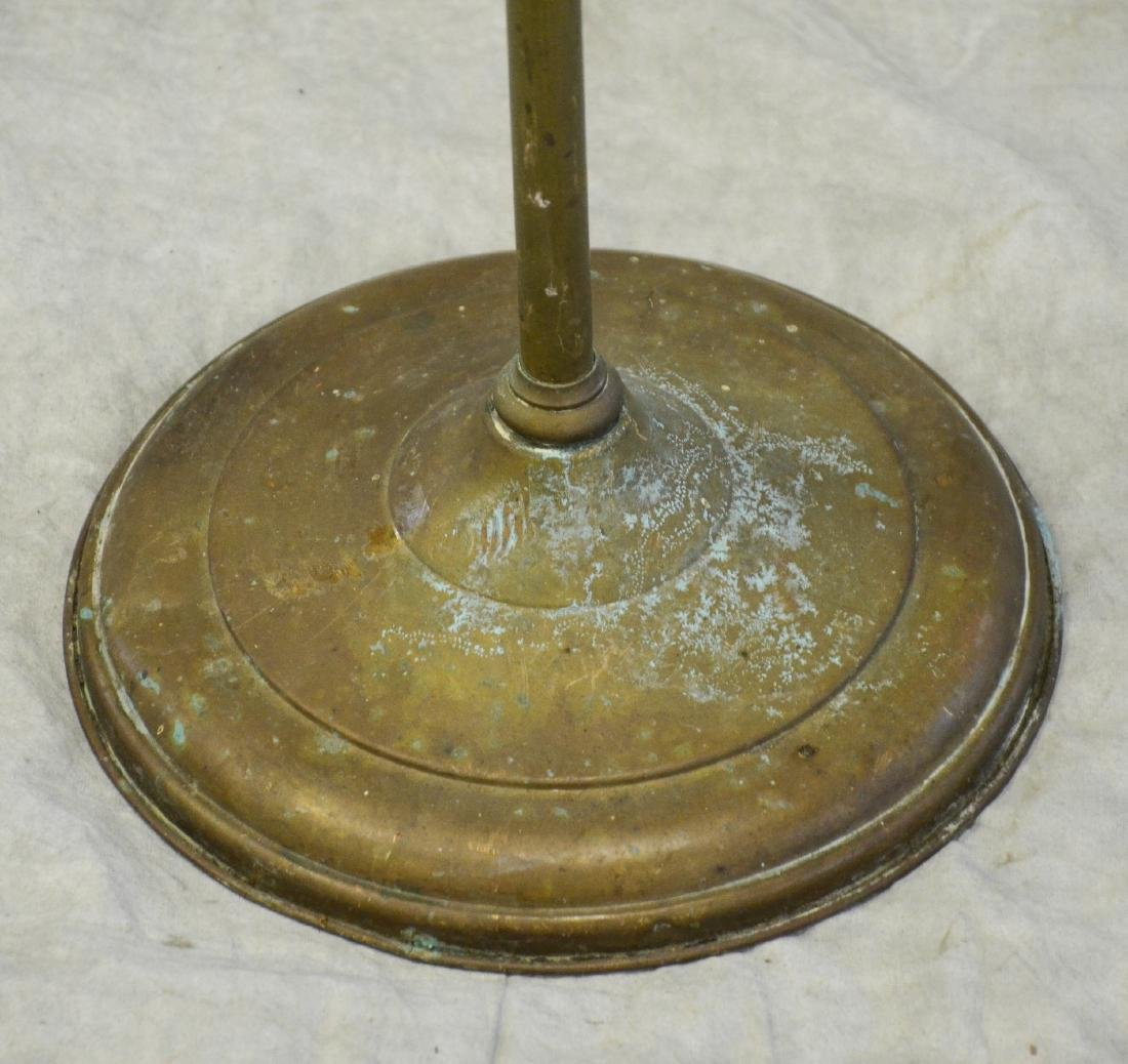 (3) bird cage stands: RARE Antique Brass Lozenge Shape - 3