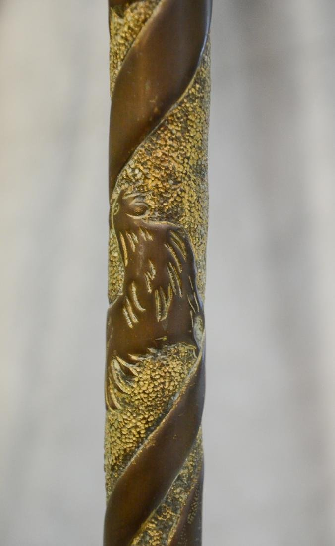 (3) bird cage stands: RARE Antique Brass Lozenge Shape - 6