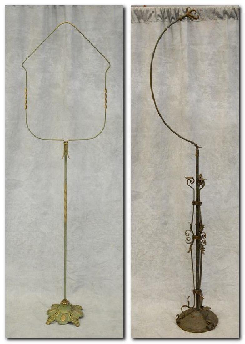 (2) bird cage stands: Ornate Egyptian Revival Bird Cage