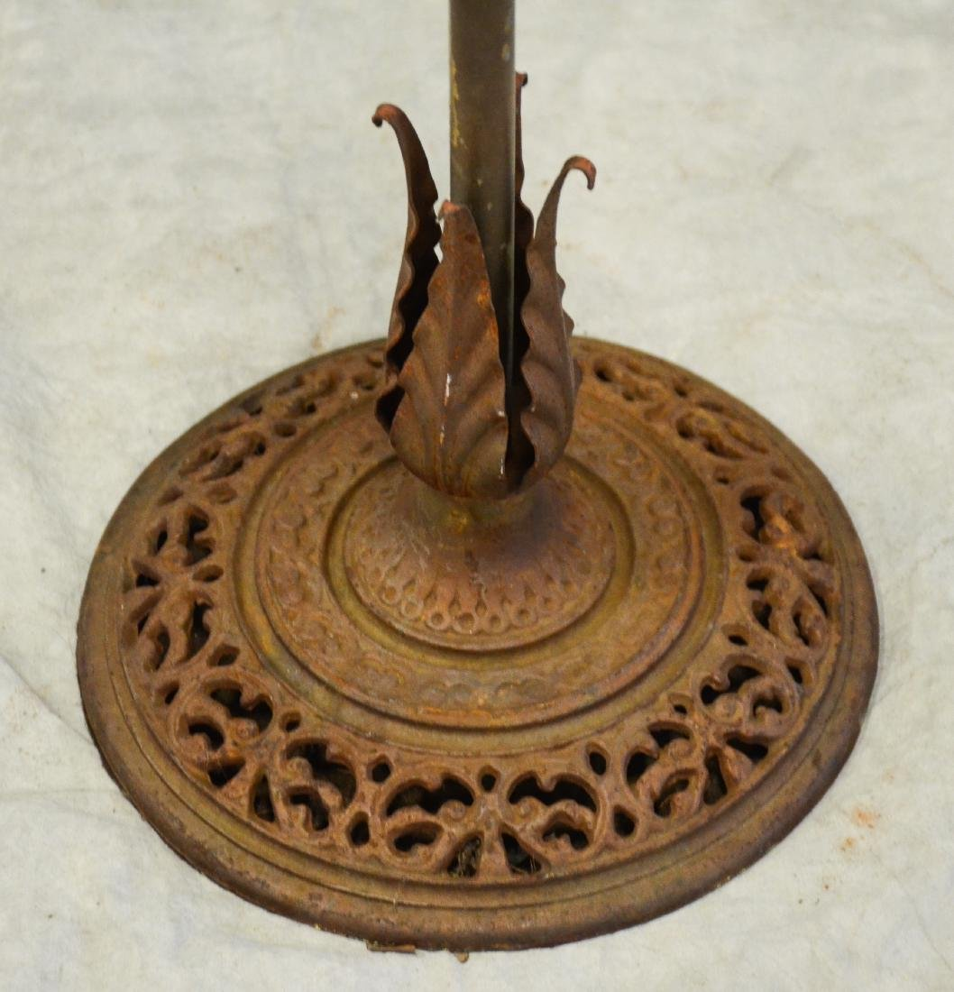 (2) bird cage stands: Massive Brass Antique Hoop Style - 3