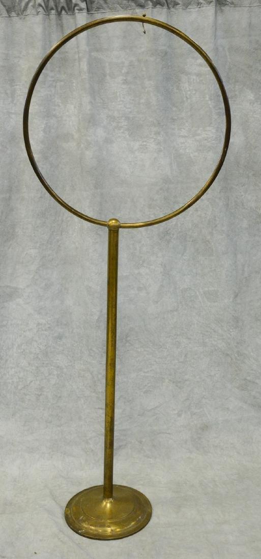 (2) bird cage stands: Massive Brass Antique Hoop Style - 4