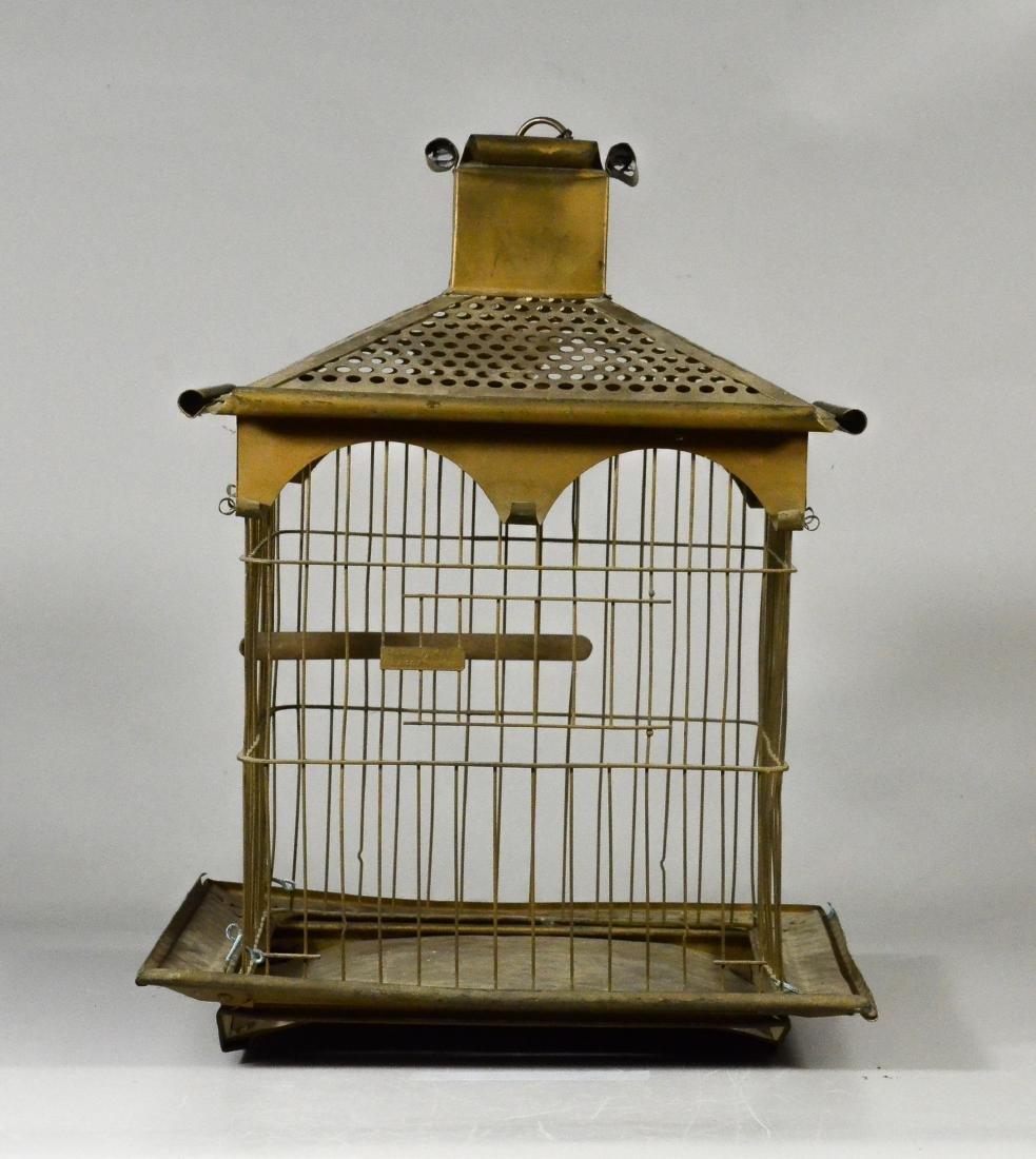 (2) bird cages: Rare O.L. Lindemann Brass Victorian - 3