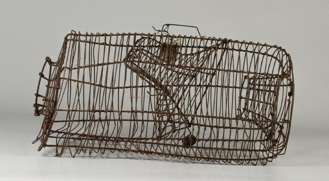 (2) Squirrel Cages, rat trap: RARE 19th Century - 3