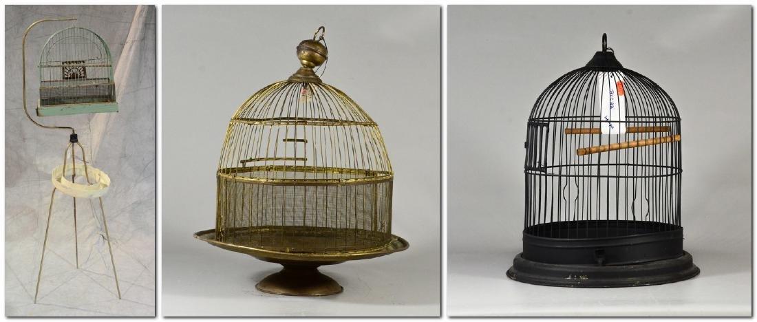 (3) bird cages: Victorian Brass Beehive Bird Cage w/