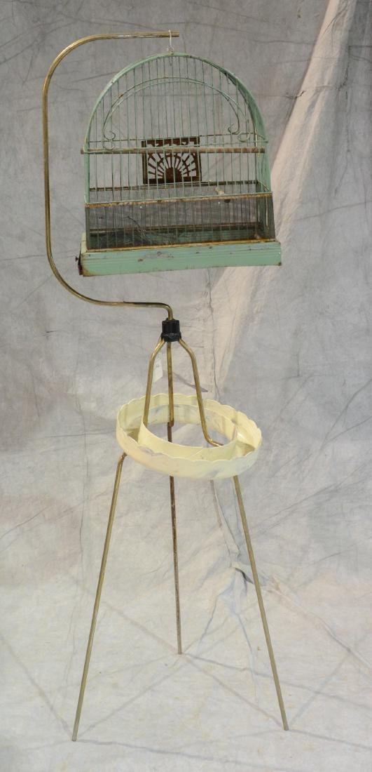 (3) bird cages: Victorian Brass Beehive Bird Cage w/ - 2
