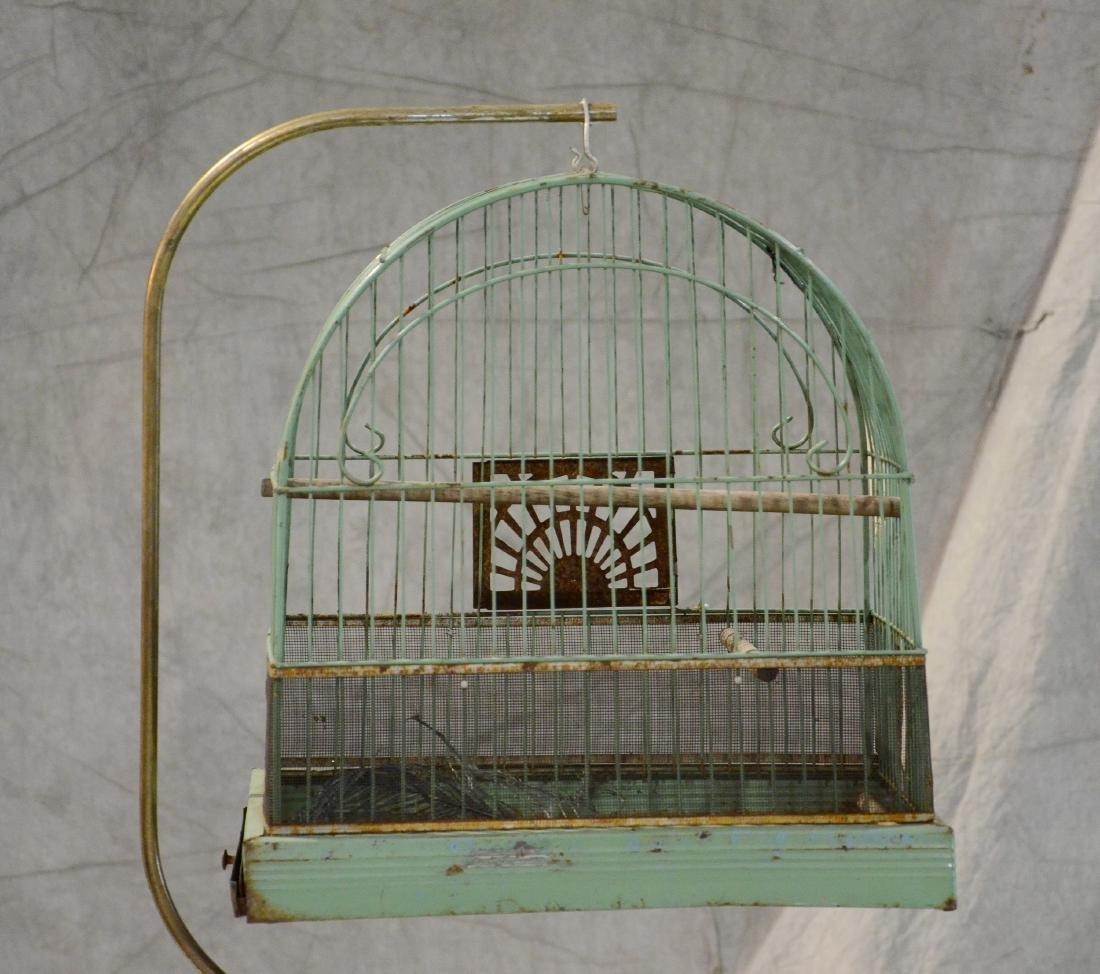 (3) bird cages: Victorian Brass Beehive Bird Cage w/ - 3