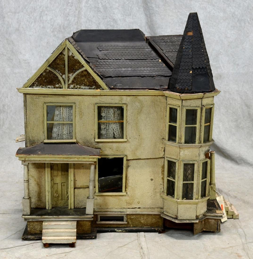 Queen Anne Style Doll House  c1920  Falling apart