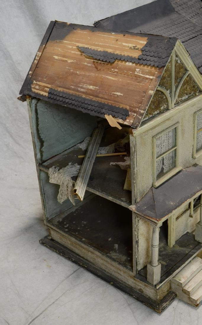 Queen Anne Style Doll House  c1920  Falling apart - 2