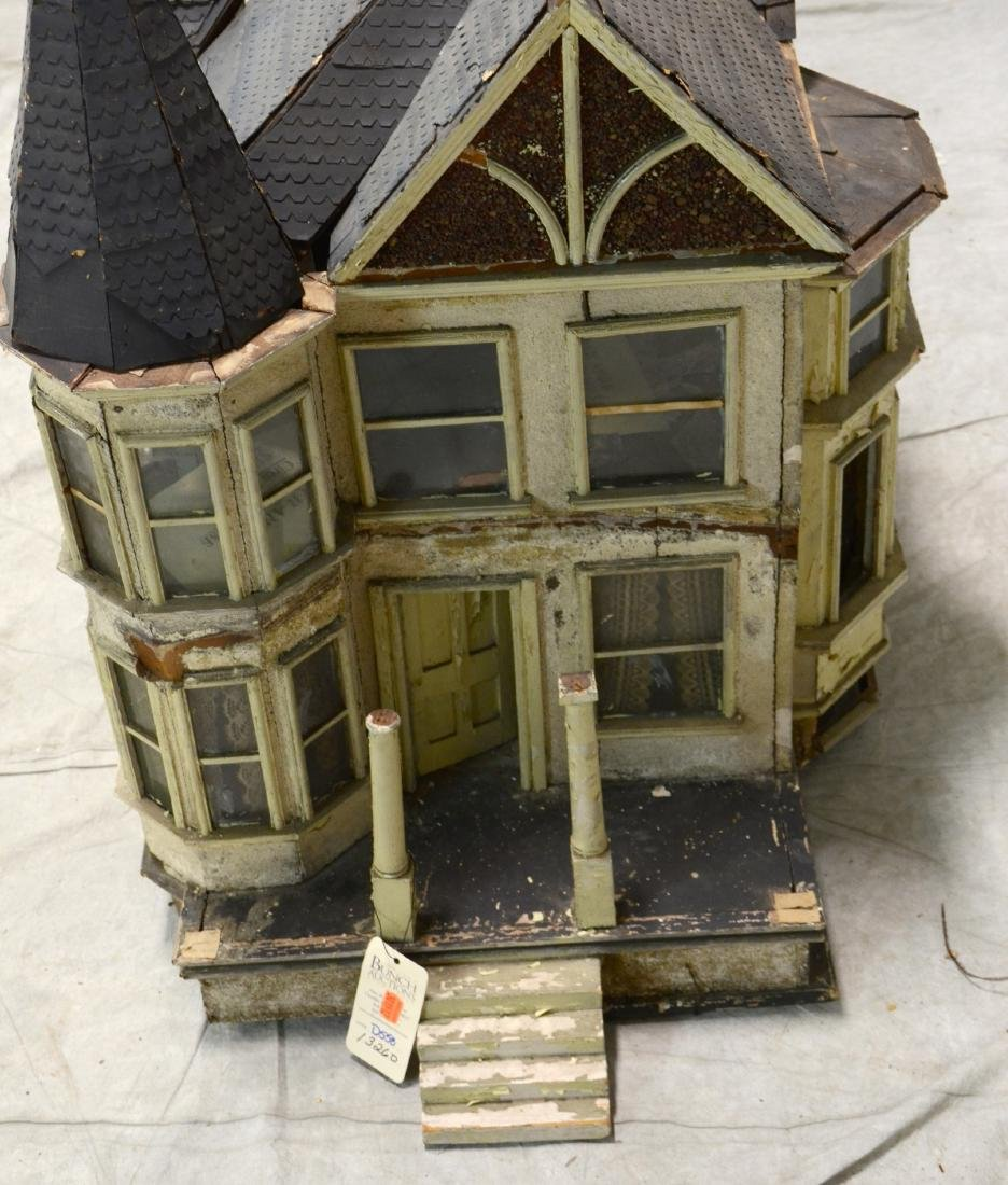 Queen Anne Style Doll House  c1920  Falling apart - 3