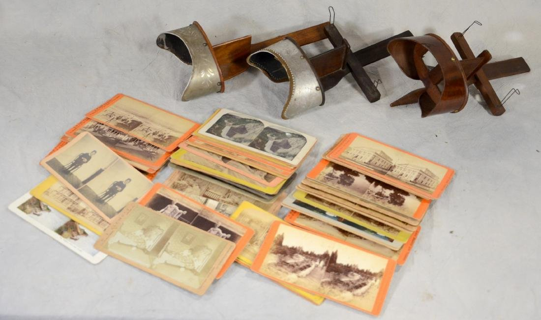45 pc Stereo Card & (3) Viewers Lot: Long Branch NJ