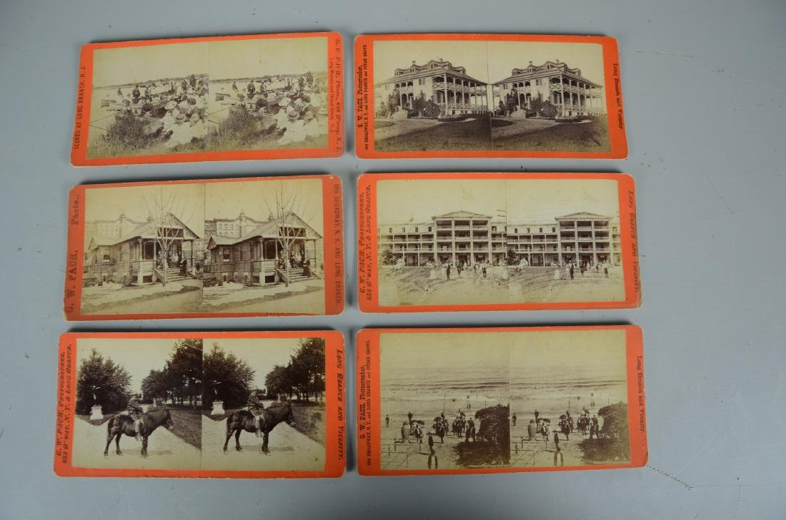 45 pc Stereo Card & (3) Viewers Lot: Long Branch NJ - 2