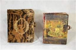 2 Photo Albums: O Deer Celluloid Photo Album c1885