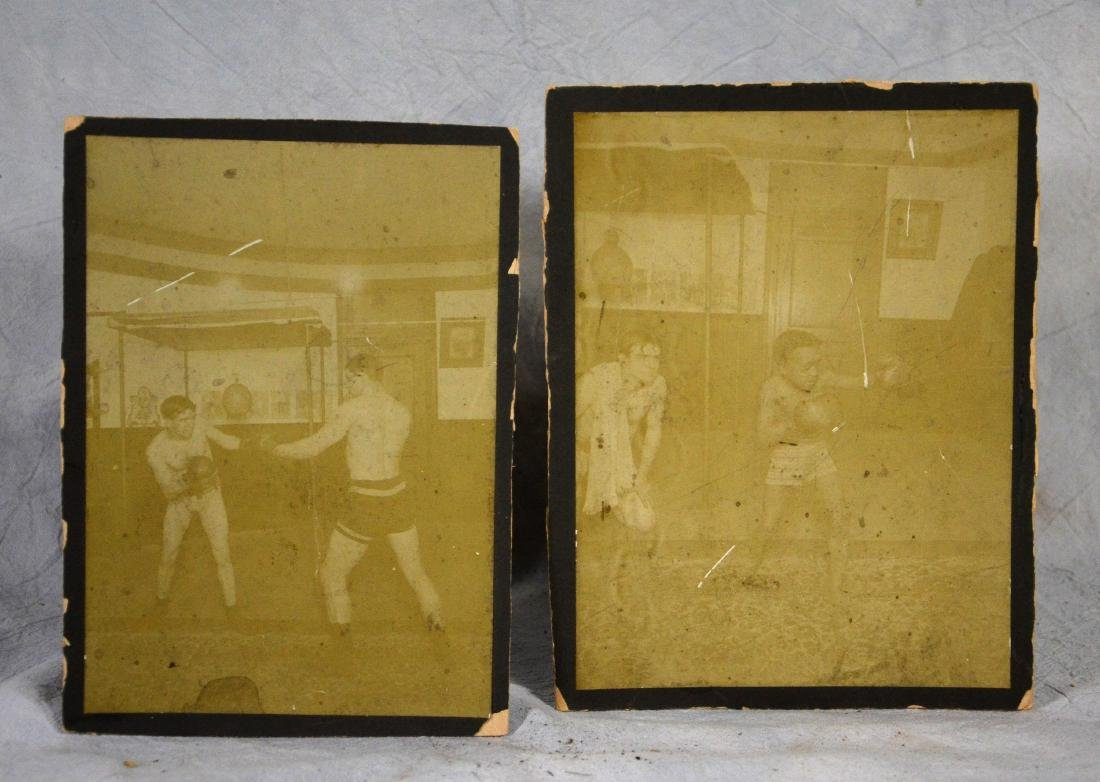 Early Boxing Photographs  2pcs  Large format w/