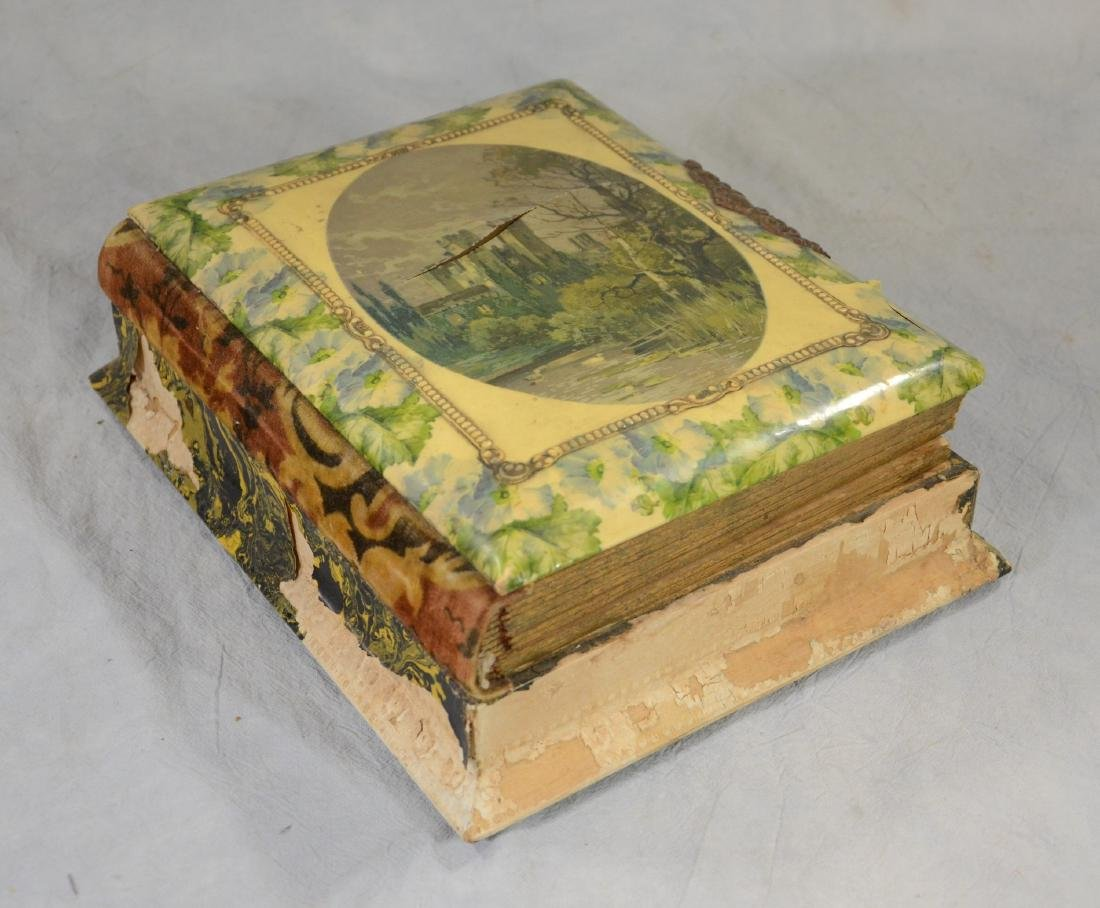 Rare Celluloid Victorian Photo Album w/ Music Box