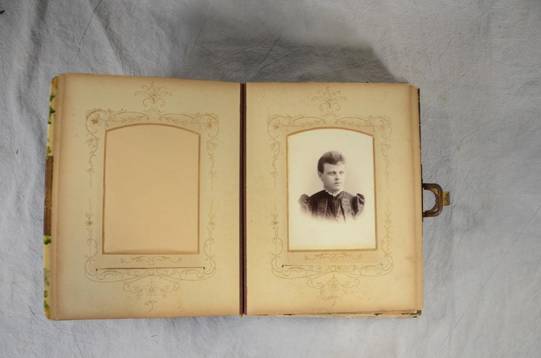 Rare Celluloid Victorian Photo Album w/ Music Box - 2