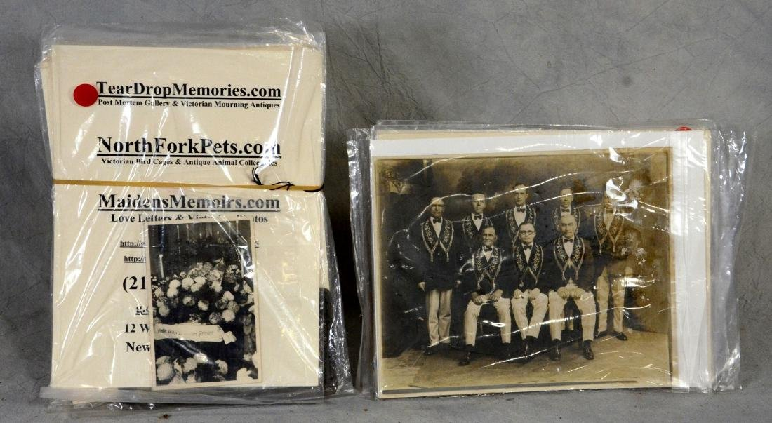 14 pc Mixed photo lot: Mourning Funeral Photo Lot  1870