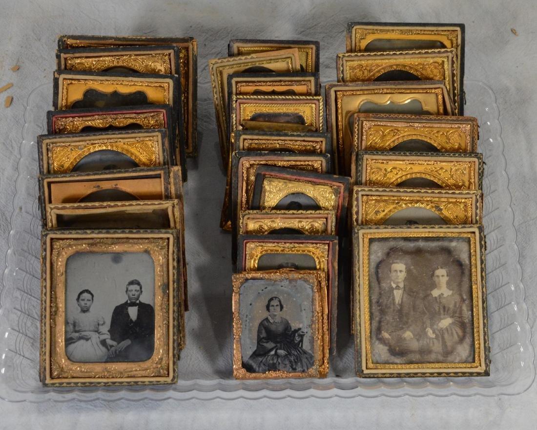 29 pc Daguerreotype, Ambrotype and Tintype Photo Lot: