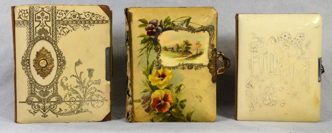 (3) celluloid photo albums: Sweet Celluloid Victorian