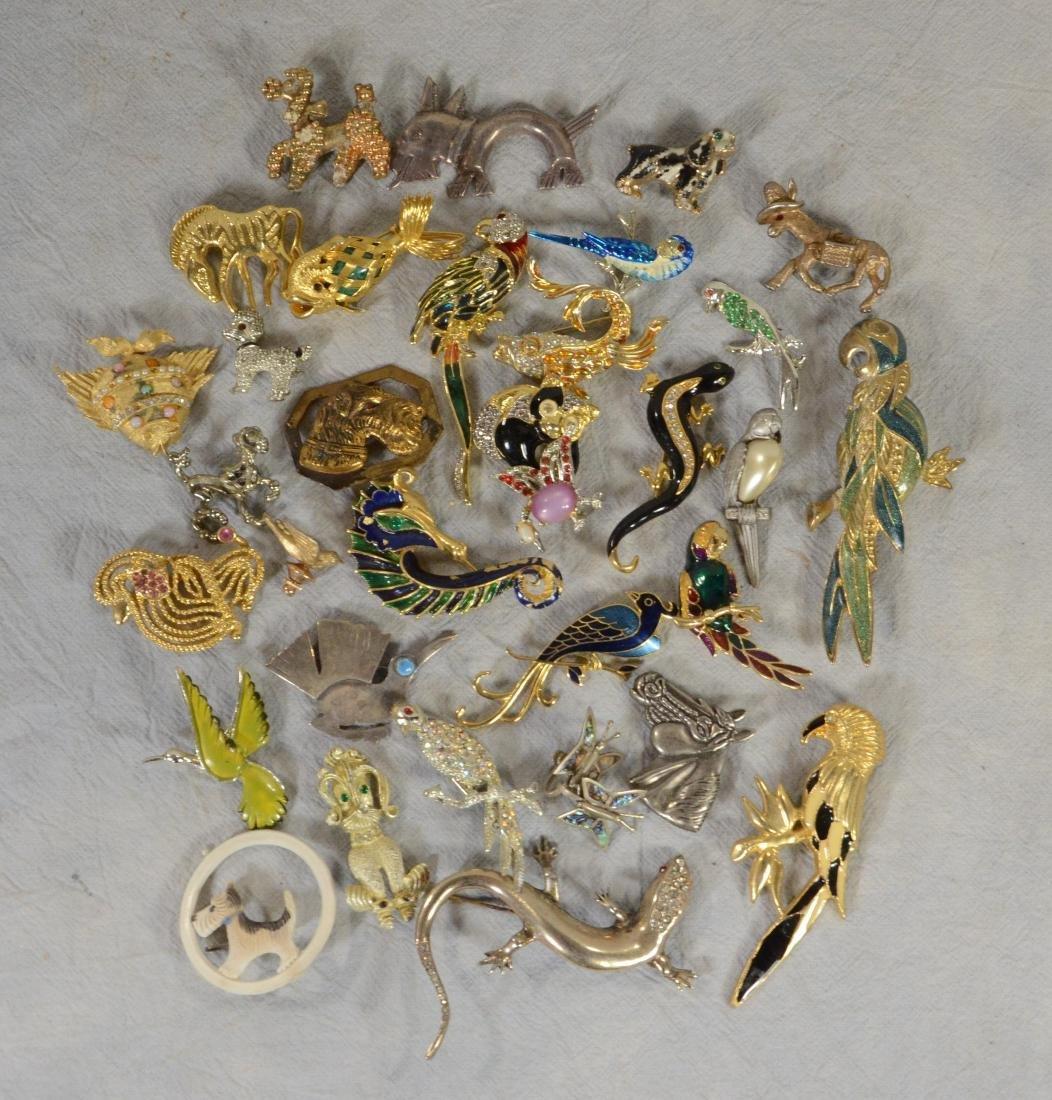 Big Costume Jewelry Animal Lot  Includes 13 birds
