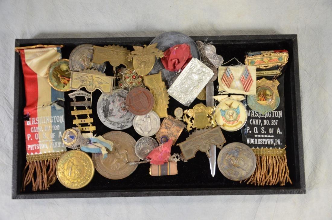 Medal & Ribbon Lot  Patriotic, Fraternal, Memorial,