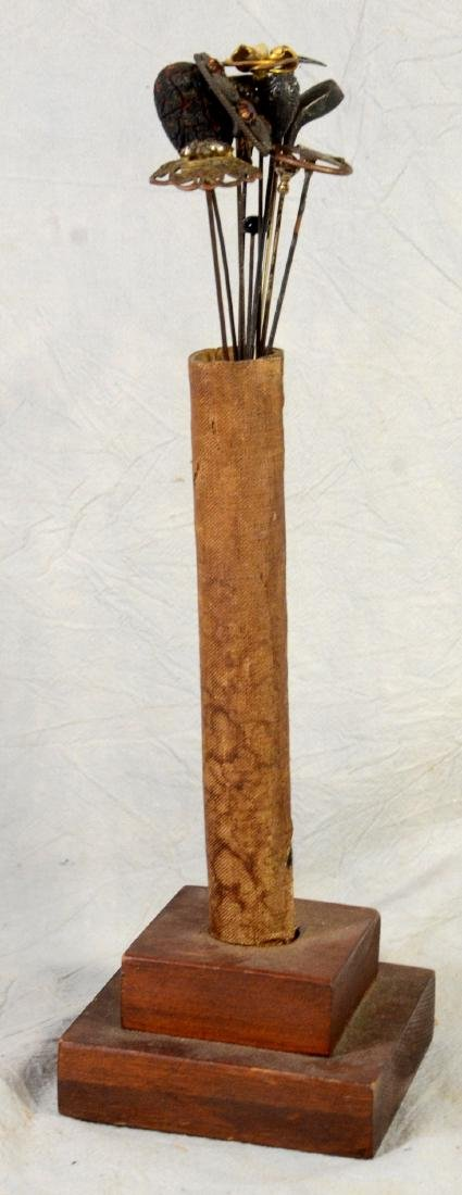 Scarce Victorian  Edwardian Wooden Hat Pin Display