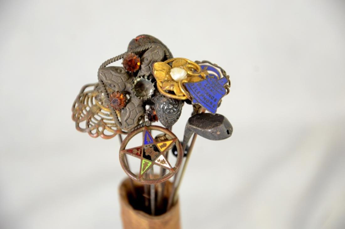 Scarce Victorian  Edwardian Wooden Hat Pin Display - 2