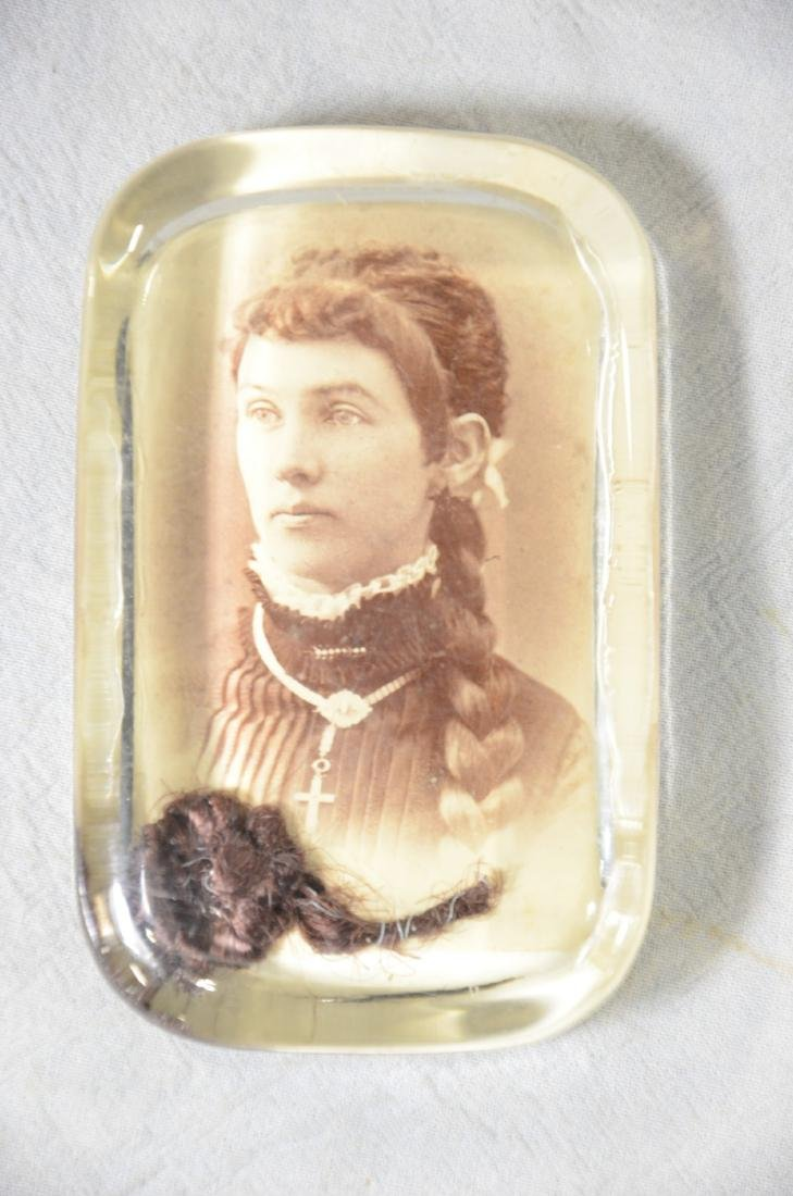 19th Century Memorial Glass Paperweights   (4) w/ - 2