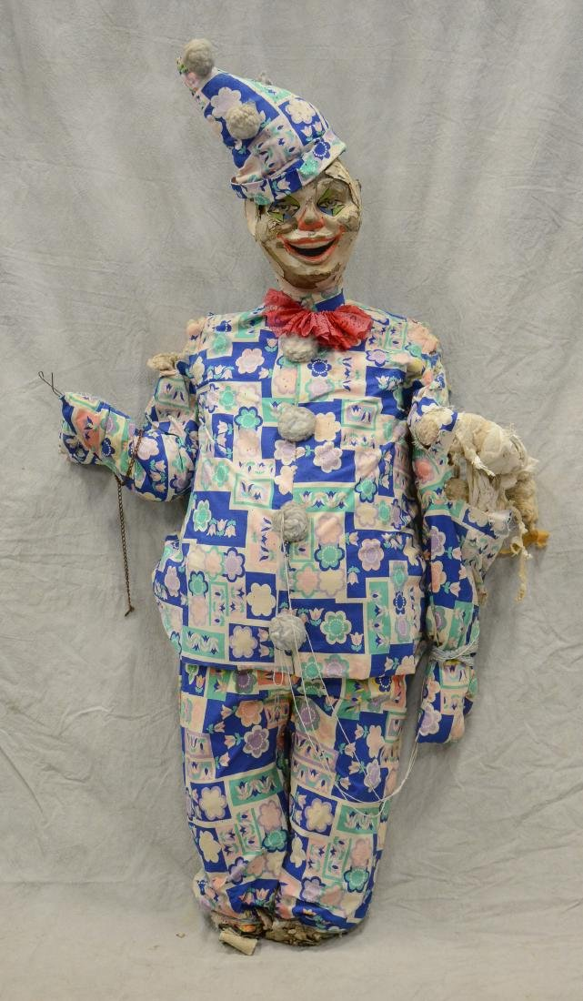 Giant Side Show Circus Clown c1940 Seven Foot tall Mid