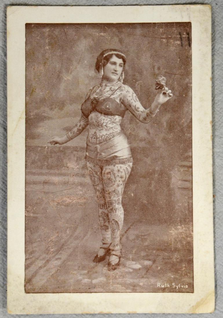 RARE Tattoo Lady Ruth Sylvia RPC  Circus Sideshow Freak