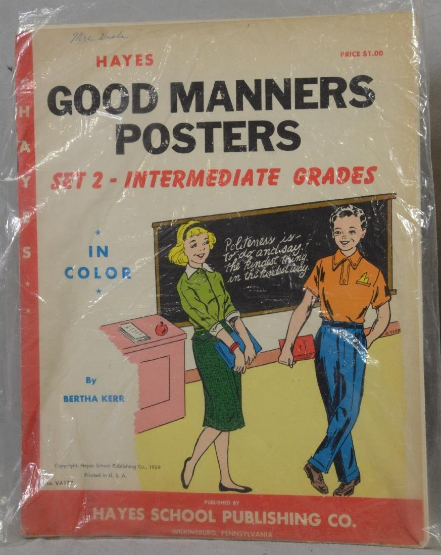 Atomic Age Good Manners SC Book of Posters by Bertha - 3