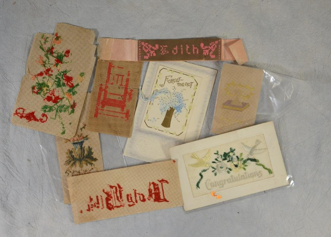 Embroidery Berlin Work Needlepoint Samples  c1870 -