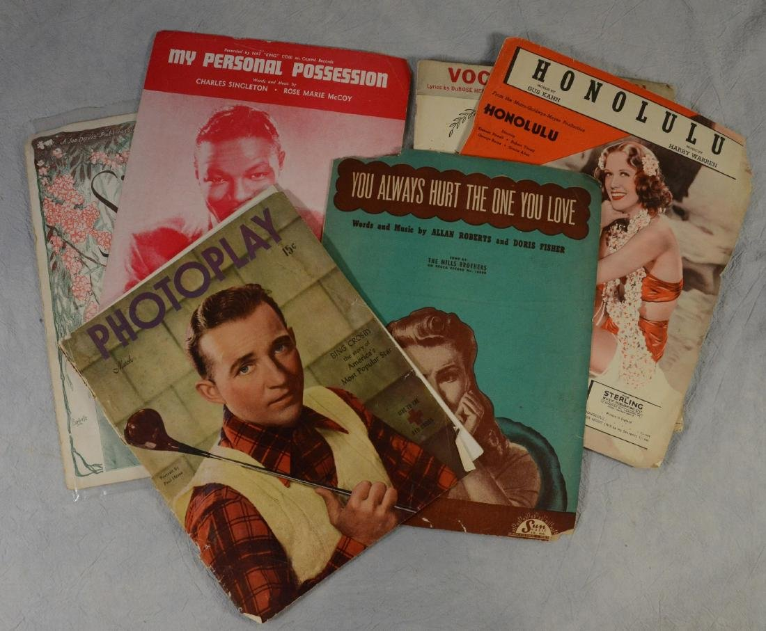 Decorative Sheet Music & Fan Magazine Lot  Including