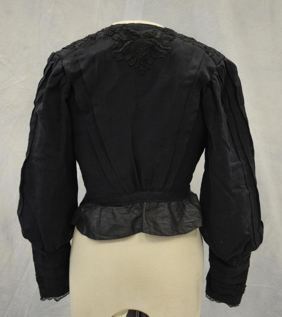 (4) Black Victorian Mourning Clothing items + a bustle: - 3